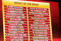 FOOTBALL - MISCS - UEFA EUROPA LEAGUE 2010 - 1/16 FINAL DRAW - 18/12/2009 - PHOTO DPPI - RESULT OF DRAW