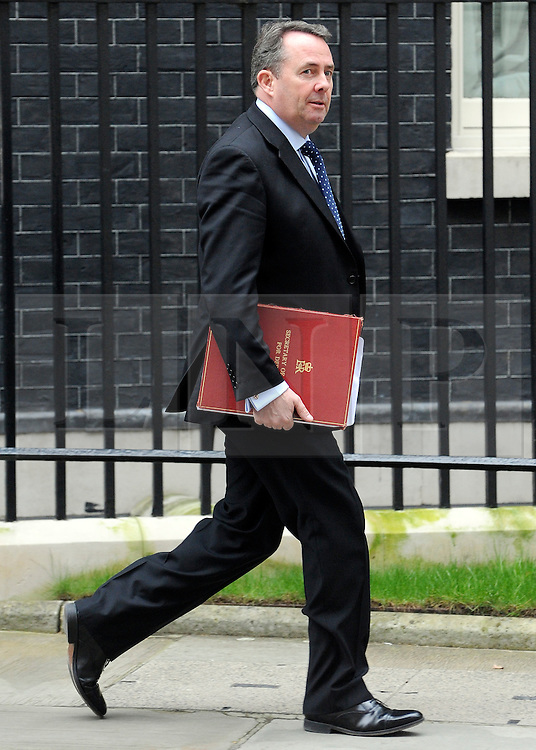 ©London News pictures. 01.03..2011. Liam Fox,  The Secretary of State for Defence, leaves Downing Street today (3rd March 2011) in London. Picture Credit should read Stephen Simpson/LNP