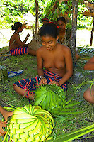 The outer islands of Yap are mostly atoll islands. Woleai hosts Outer Island Day every March 6 with students performing dances and doing traditional works.