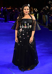 Mindy Kaling attending the A Wrinkle In Time European Premiere held at BFI IMAX in Waterloo, London.