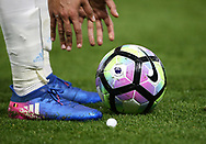 WBA's Nacer Chadli puts the ball down during the Premier League match at Vicarage Road Stadium, London. Picture date: April 4th, 2017. Pic credit should read: David Klein/Sportimage