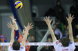 Mitja Gasparini of ACH Volley at volleyball match of CEV Indesit Champions League Men 2008/2009 between ACH Volley Bled (SLO) and Beauvais Oise (FRA), on December 11, 2008 in Hala Tivoli, Ljubljana, Slovenia. (Photo by Vid Ponikvar / Sportida)