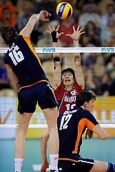 08-07-2010 VOLLEYBAL: WLV NEDERLAND - ZUID KOREA: EINDHOVEN<br /> Nederland verslaat Zuid Korea met 3-0 / Yung Suk Shin<br /> ©2010-WWW.FOTOHOOGENDOORN.NL