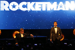 May 16, 2019 - Cannes, France - 72th International Cannes Film Festival. Party ''Rocketman'' after screening. 72 eme festival International du Film de Cannes. Soirée ''Rocketman''.....239288 0000-00-00  Cannes France.. John, Elton; Egerton, Taron (Credit Image: © Terence Baelen/Starface via ZUMA Press)