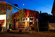 """Beast is a six-course, prix fixe restaurant in NE Portland, Oregon whose menu changes every Wednesday.  Chef Naomi Pomeroy (and single mom) and partner Micah Paredes focus on local ingredients in a style which they call """"refined French grandmother."""""""