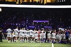 January 19, 2019 - Paris, France, FRANCE - Haie d honneur des joueurs du RM92 pour les joueurs du Scarlets (Credit Image: © Panoramic via ZUMA Press)