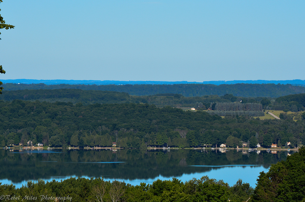 Lake Bellaire Viewed From Shanty Creek Resort On A Still Evening