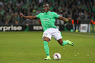 Saint-Etienne Defender Florentin Pogba shoots at goal during the Europa League match between Saint-Etienne and Manchester United at Stade Geoffroy Guichard, Saint-Etienne, France on 22 February 2017. Photo by Phil Duncan.