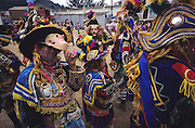 TODOS  SANTOS, Guatemala. Dance of the Spanish Conquistadores. Depicting the  conquest of Central America by the Spaniards and the destruction of Mayan civilization. Western Highlands, Huehuetenango, Todos Santos. Mayan traditional festival. Todos Santos Horse Race, the 'Skach Koyl' on All Saints Day 1st November; the 'Day of the dead' November 2nd. Mayan dances about Spanish 'Conquistadores' and Mayan Spirits, accompanied by marimbas take place October 31st.