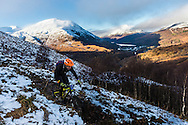 Nick Smart tackles stage one of the Kinlochleven Enduro.