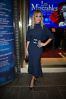 Amanda Holden at the  Les Miserable Press Night as the show goes on tour. Sondheim Theatre,  Shaftesbury Avenue, London.