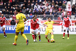March 17, 2019 - Reims, France - 20 TRISTAN DINGOME (REI) - 12 GABRIEL BOSCHILIA  (Credit Image: © Panoramic via ZUMA Press)