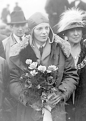 JANUARY 11TH : On this day in 1945 Ameila Earhart in the first flight of its kind, flew from Wheeler Field in Honolulu, Hawaii, on a solo flight to North America. Hawaiian commercial interests offered a $10,000 award to whoever accomplished the flight first. Picture dated June 1928 of Amelia Earhart, the first woman to fly the Atlantic, arriving at Southampton.  02/12/1996: Scientists began testing a scrap of corroded aluminium that investigators believe came from the aircraft Amelia Earhart was flying when she vanished 59 years ago.