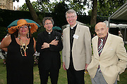 Michael Seed, Canon Robert Wright and Sir Sigmund Sternberg, Charity Garden Party  to raise money for The Passage. A London charity which provides care for homeless and vulnerable people. College Garden, Westminster Abbey<br />Thursday 19 July 2007  -DO NOT ARCHIVE-© Copyright Photograph by Dafydd Jones. 248 Clapham Rd. London SW9 0PZ. Tel 0207 820 0771. www.dafjones.com.