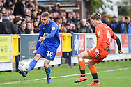 AFC Wimbledon Midfielder Shane McLoughlin (38) during the EFL Sky Bet League 1 match between AFC Wimbledon and Wycombe Wanderers at the Cherry Red Records Stadium, Kingston, England on 27 April 2019.