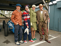 © Licensed to London News Pictures. <br /> 13/09/2019. <br /> Goodwood.West, Sussex. UK.<br /> The Goodwood Motor Circuit celebrates the 21st year of the Revival.This has become one of the biggest annual historic motorsport events in the world and the only one to be staged entirely in period dress. Each year over 150,000 people descend on this quiet corner of West Sussex to enjoy the three-day event.<br /> Pictured Racegoers in period dress.<br /> <br /> Photo credit: Ian Whittaker/LNP