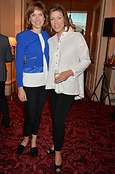 Left to right, FIONA BRUCE and KATE SILVERTON at the Audi Ballet Evening at The Royal Opera House, Covent Garden, London on 23rd April 2015.