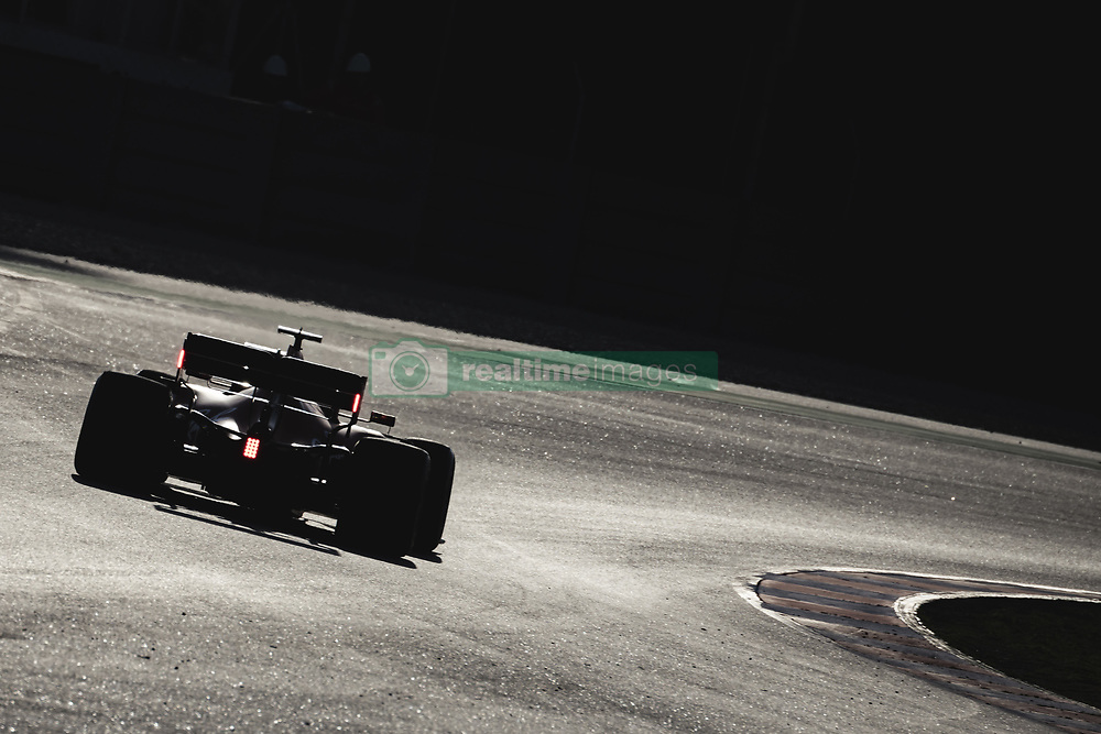 February 18, 2019 - Barcelona, Catalonia, Spain - SEBASTIAN VETTEL (GER) from team Ferrari drives in his in his SF90 during day one of the Formula One winter testing at Circuit de Catalunya (Credit Image: © Matthias Oesterle/ZUMA Wire)