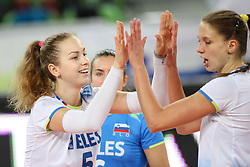 Pia Blazic of Slovenia celebrates during the volleyball match between National team of Turkey and Slovenia in Gold Medal game of Womens U23 World Championship 2017, on September 17, 2017 in SRC Stozice, Ljubljana, Slovenia. Photo by Morgan Kristan / Sportida