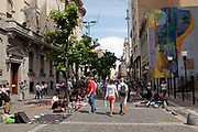 Calle Florida, Florida Street, the main shopping street of Buenos Aires, Federal District, Argentina.