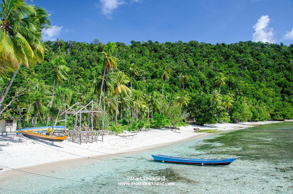 Shoreline at Sawandarak Village, Raja Ampat, West Papua, Indonesia