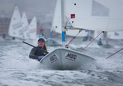 The annual RYA Youth National Championships is the UK's premier youth racing event. Day 3 with winds backing to the North the racing started on the Largs Channel.<br /> <br /> 210220, Daisy Collingridge, Waldringfield, Laser Radial Girl <br /> <br /> Images: Marc Turner / RYA<br /> <br /> For further information contact:<br /> <br /> Richard Aspland, <br /> RYA Racing Communications Officer (on site)<br /> E: richard.aspland@rya.org.uk<br /> m: 07469 854599