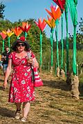 Sculpture by the lake - The 2018 Latitude Festival, Henham Park. Suffolk 13 July 2018