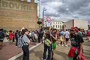 People take part in an African Emancipation Day reparations march, in Brixton, south London, Saturday, Aug. 1, 2020. A coalition of groups including the Afrikan Emancipation Day Reparations March Committee and Extinction Rebellion gathered for the annual event in South London which aims to highlight the need for reparations and amendments to be made for enslavement endured by generations of black people. (VXP Photo/ Vudi Xhymshiti)