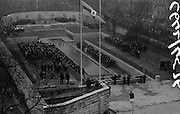 11/04/1966<br /> 04/11/1966<br /> 11 April 1966<br /> 1916 Jubilee Commemorations- Opening and Blessing Ceremony at the Garden of Remembrance, Parnell Square, Dublin. Image shows a view of the Garden and the ceremony.