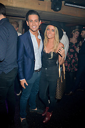 OLLIE LOCKE and CAT RADFORD at a party to celebrate the opening of Beaver Lodge, a new bar & club from the Inception Group at 266 Fulham Road, London SW10 on 4th December 2014.