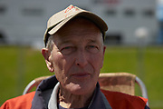 """Mike Moore (pictured) and his buddy Dave Hives (next photo) are self-described as the """"Oldest flaggers in the world""""."""
