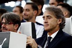(l-r) coach Gian Roberto Mancini of Italy during the International friendly match between Italy and The Netherlands at Allianz Stadium on June 04, 2018 in Turin, Italy