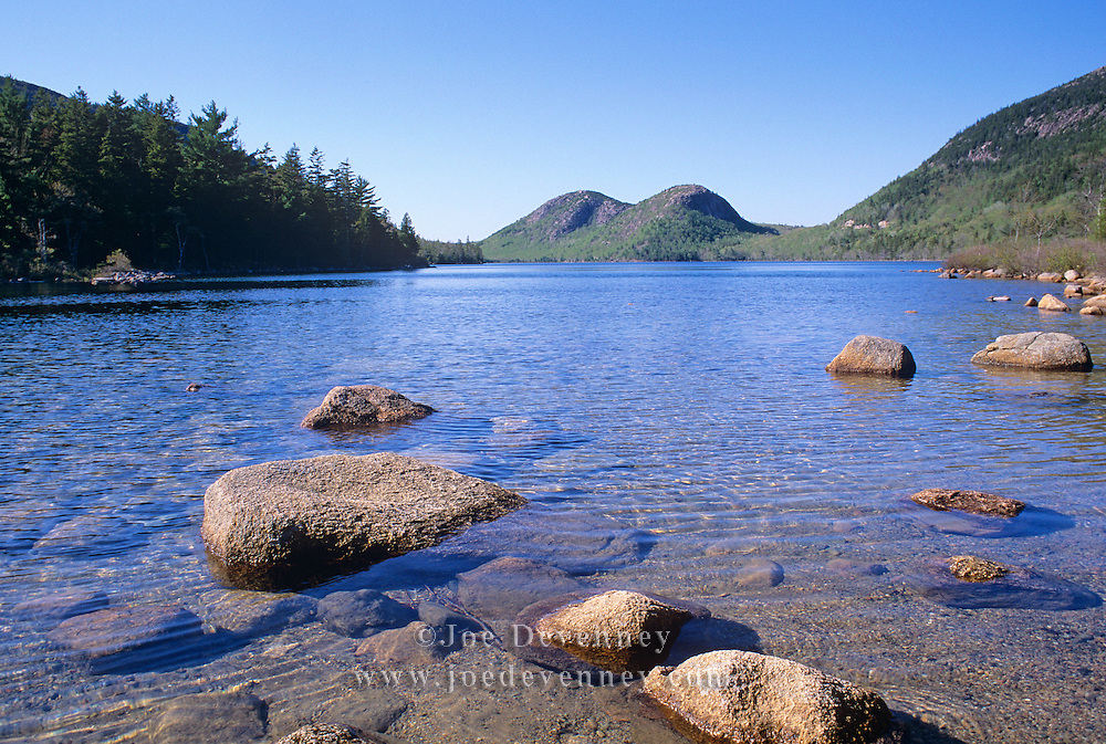 Jordan Pond and the Bubbles. Acadia National Park. Mount Desert Island, Maine.