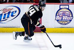 Maxim Lapierre (Anaheim Ducks, #14) during ice-hockey match between Anaheim Ducks and Los Angeles Kings in NHL league, Februar 23, 2011 at Honda Center, Anaheim, USA. (Photo By Matic Klansek Velej / Sportida.com)