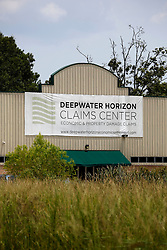 01 Aug 2013. Hammond, Louisiana.<br /> The Deepwater Horizon Claims Center sits in a nondescript building at the junction of Highways 12 and 55 in rural Louisiana. BP has launched a major publicity campaign to fight back against what it considers unjust payouts from the Gulf coast claims process. <br /> Photo; Charlie Varley