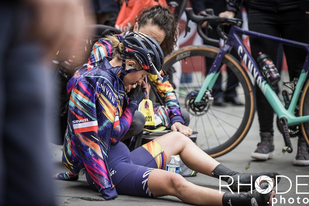 Katarzyna Niewiadoma (POL/Canyon Sram Racing) post race exhausted<br /> <br /> 7th Strade Bianche Women Elite <br /> Siena > Siena 136km<br /> <br /> ©RhodePhoto