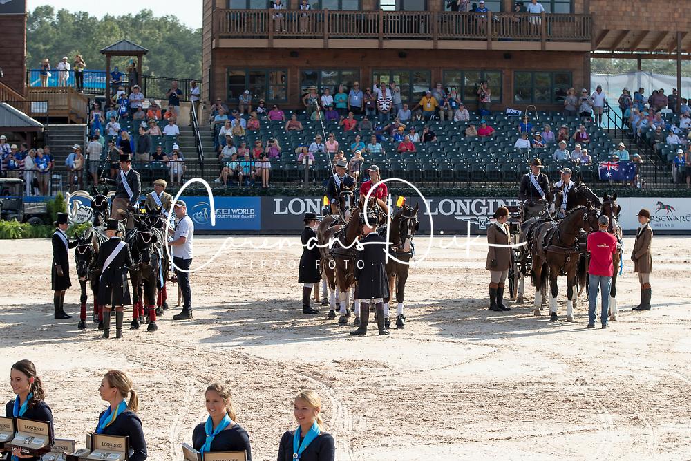 Team BEL, Degrieck Dries, Geerts Glenn, Simonet Edouard, BEL<br /> World Equestrian Games - Tryon 2018<br /> © Hippo Foto - Dirk Caremans<br /> 23/09/2018