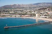 Ventura Pier North Facing Aerial stock Photo