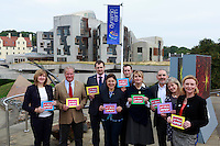 Green MSP to hit independence referendum trail. Alison Johnstone to highlight how voting Yes on September 18 could help set up a small business revolution in the Dynamic Earth, Edinburgh.<br /> Pako Mera/Universal News And Sport (Europe) 09/09/2014