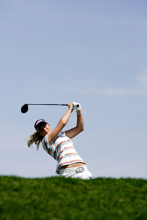 Suzann Pettersen tees off at the Kraft Nabisco Championship, the first major of the year for the LPGA tour.