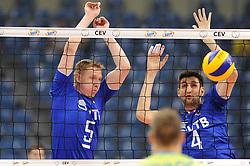 Sergey Grankin, Artem Volvich during the European Championship game Russia - Slovenia on August 26, 2017 in Krakow, Poland. (Photo by Krzysztof Porebski / Press Focus)
