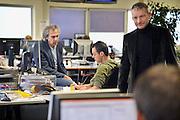 Nederland, Nijmegen, 16-2-2012Op de redactie van de regionale krant Gelderlander daags na de nieuwe bezuinigingsplannen van Wegener.Foto: Flip Franssen