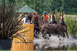 De Ronde Koos (NED) - Bilbo, Palero, Ulano, Zimba, Zimon<br /> Wohnwelt Pallen Marathon<br /> Weltfest des Pferdesports CHIO Aachen 2014<br /> © Hippo Foto - Dirk Caremans