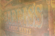 Harris's Fair ground truck with traditional hand written lettering on lorry
