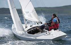 International Dragon Class Scottish Championships 2015.<br /> <br /> Day 1 racing in perfect conditions.<br /> <br /> ESP71, Bear<br /> <br /> <br /> Credit Marc Turner