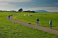 Walking trails at Cesar Chavez City Park, Berkeley Waterfront, Alameda County, California