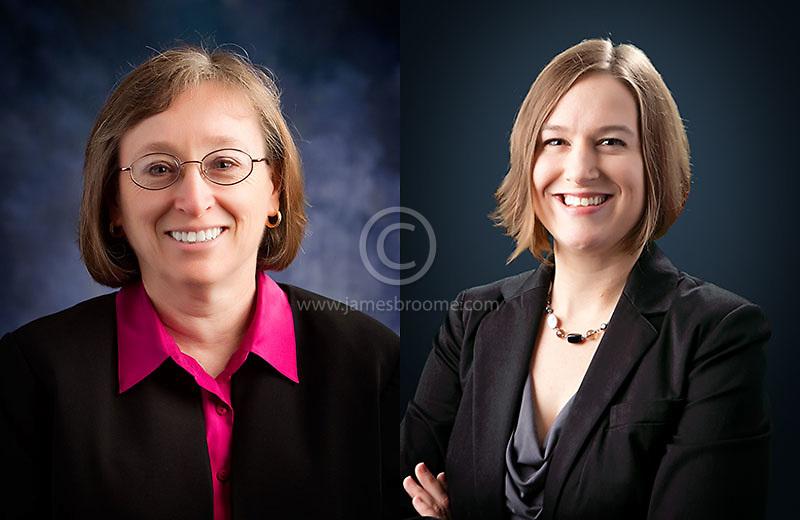 On-location corporate headshots using professional studio lighting and backdrops