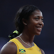 Shelly-Ann Fraser-Pryce, Jamaica, during the Women's 4 x 100m Relay Final at the Olympic Stadium, Olympic Park, Stratford during the London 2012 Olympic games. London, UK. 10th August 2012. Photo Tim Clayton