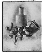Solaroid - Metal Morphosing -SU Carburettor 1 - This is a solarised polaroid photo art print by Paul Williams who invented the technique and is the only photographer to have used it. The process is sadly no longer possible. Circa 1989,