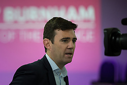 © Licensed to London News Pictures  . 05/09/2015 . Manchester , UK . ANDY BURNHAM at a rally for his campaign to be the next leader of the Labour Party , at Kings House Conference Centre in Manchester . Photo credit: Joel Goodman/LNP